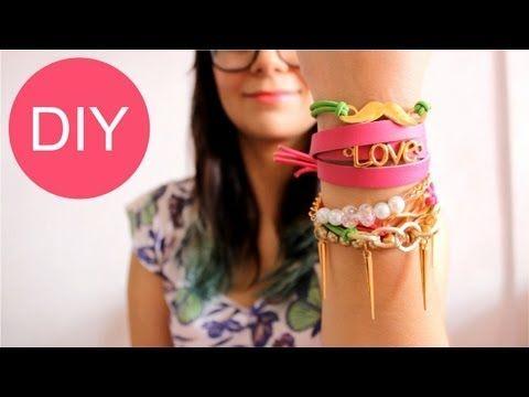 5 IDEAS PARA HACER PULSERAS / cómo hacer pulseras - Hablobajito - YouTube