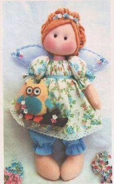 Patrón de muñeca Ángel Más