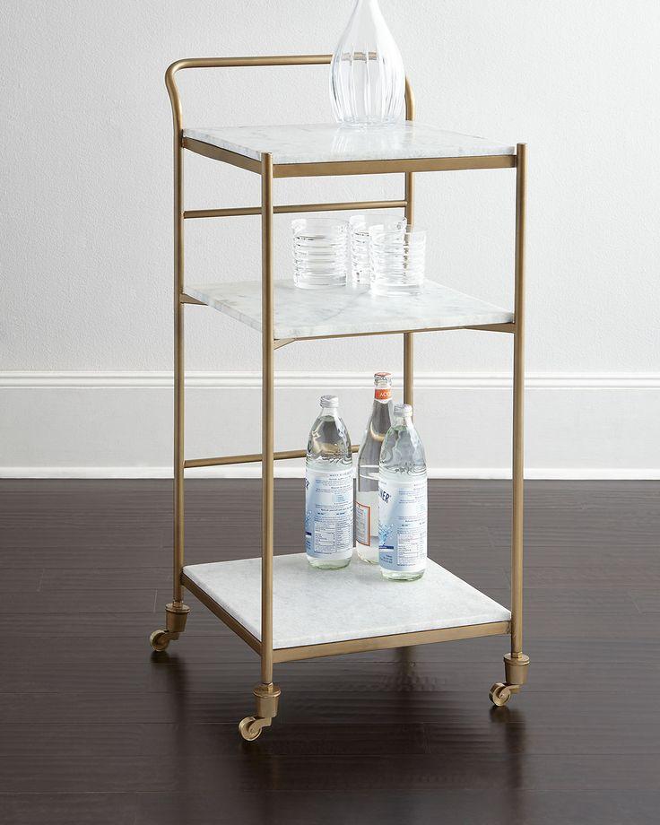 Coolidge Bar Cart, Brass - Neiman Marcus