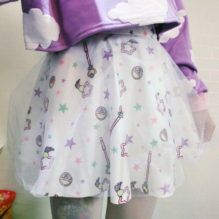 Cute cake donuts double gauze tutu skirts shorts tees suit from Cute Kawaii {harajuku fashion}