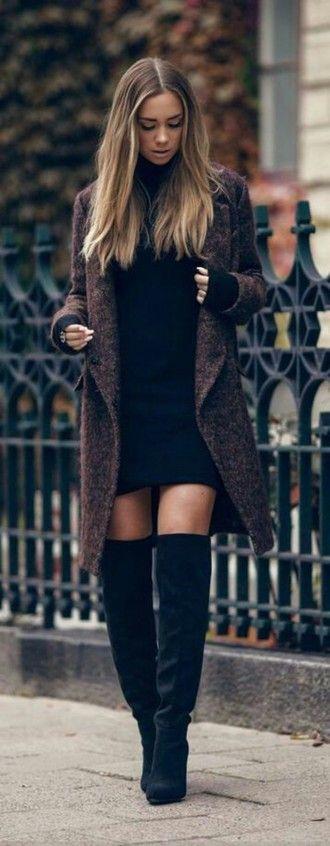 coat wool coat fall coat dress black black dress little black dress long…