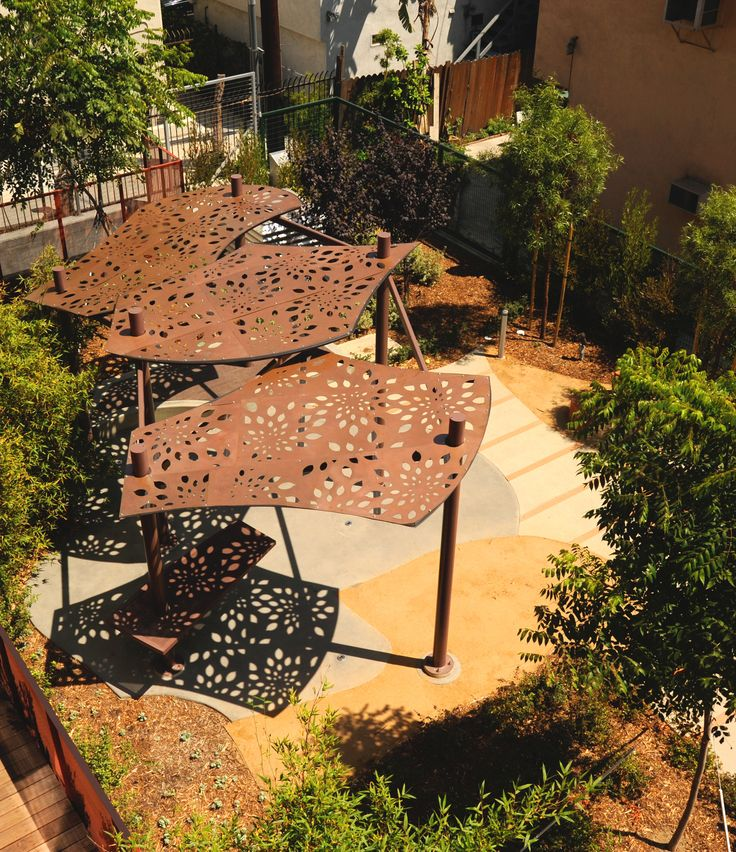 In West Hollywood, CA designed by Katherine Spitz Association, Inc for the City of West Hollywood. Formosa design.