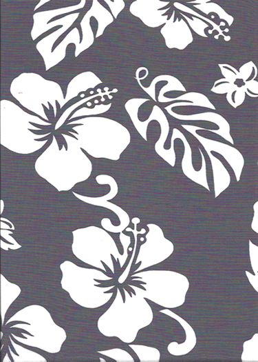 Pareau Grey Vintage Style Hawaiian Fabrics Tropical