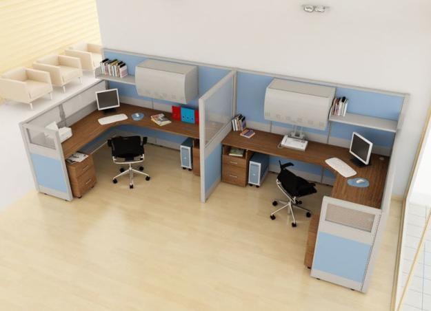 Estaciones de trabajo para la oficina moderna eficiente y for Distribucion de oficinas modernas