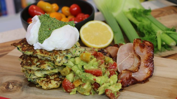Fennel and Zucchini Fritters with Avocado Salsa and Walnut Pesto — TRAINER LUKE