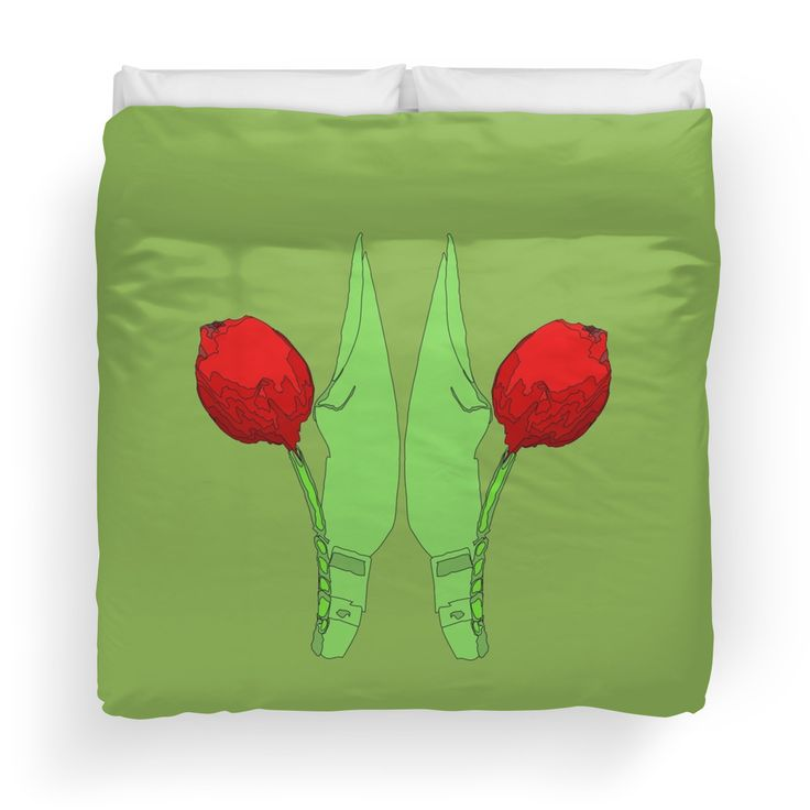 red tulip in twin Duvet Covers