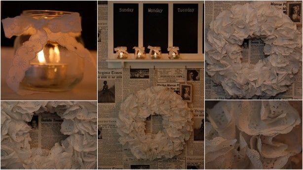 gemaakt door stapeltjes taartrondjes op een strokrans te prikken. gevonden op; creabyclaudia.blogspot.be