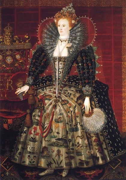 "Queen Elizabeth I. ""And the imperial votaress passed on, In maiden meditation, fancy-free""- Written about Elizabeth by William Shakespeare in A Midsummer's Night Dream."