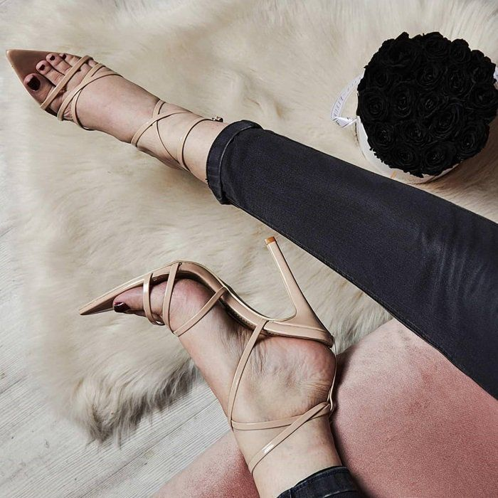 752e91b6146 Sexy Pointed Barely There Heels | Sexy heels in 2019 | Yellow ...