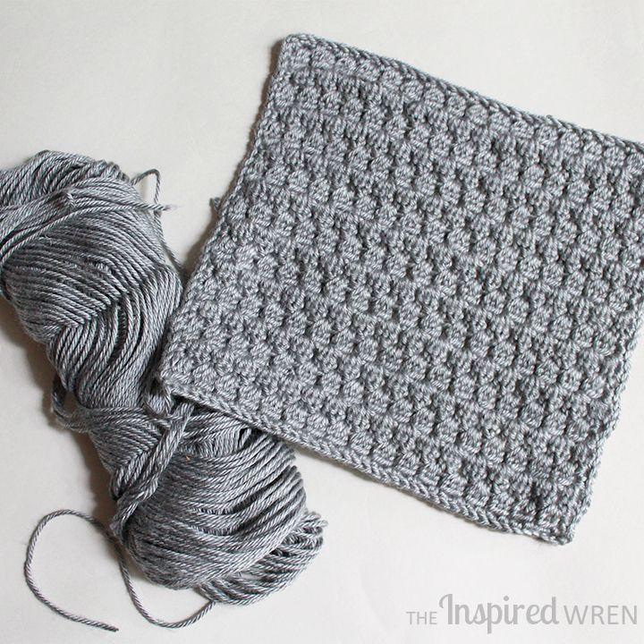 Bobble Stitch, Square 7 of 10 for the Crochet Along Afghan Sampler on The Inspired Wren