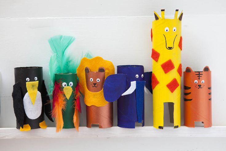 Paper roll animals - Red Ted Art: Cute and Easy Crafts for Kids