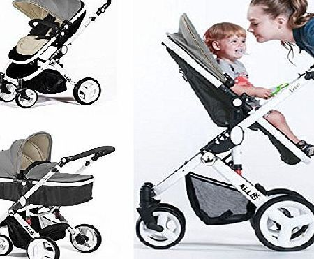 Allis Baby Pram Pushchair Buggy Stroller Carry Cot Travel 2in1 Grey INCLUDES: Pushchair/ Carrycot, Seat converts from carrycot to pushchair Carry cot pad with 5 points harness Canopy 2in1 Footmuff, carry cot cover Raincover (Barcode EAN = 6941742300857). http://www.comparestoreprices.co.uk/december-2016-week-1/allis-baby-pram-pushchair-buggy-stroller-carry-cot-travel-2in1-grey.asp