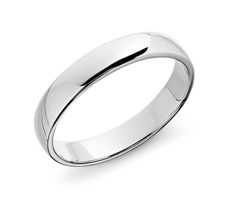 Classic Wedding Ring in 14k White Gold (4mm)