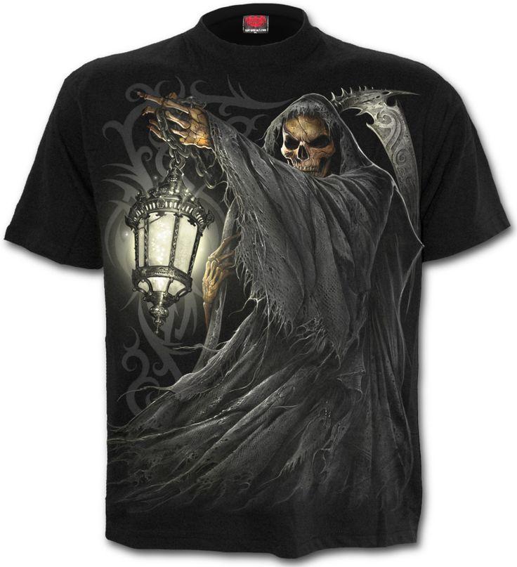 Camiseta Death Lantern #spiraldirect #calavera #skull #reaper #metal #rock #gothic #xtremonline