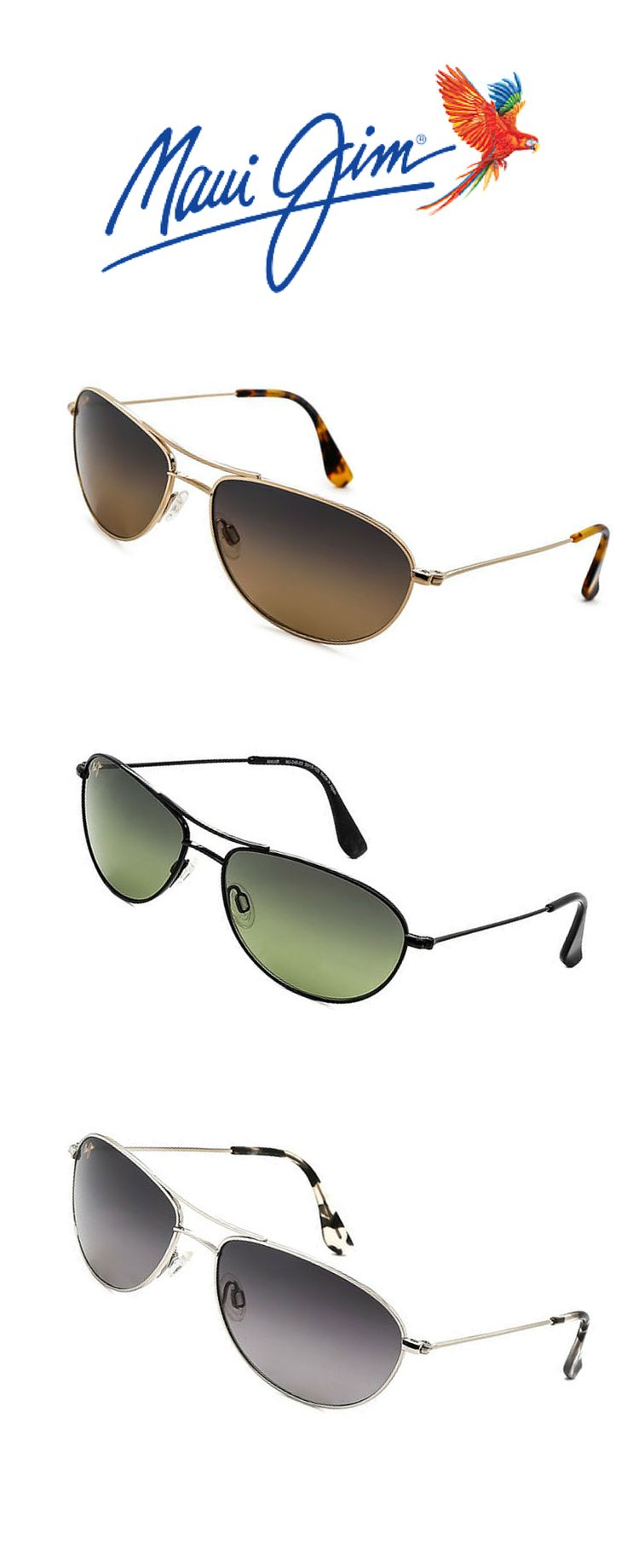 Maui Jim Baby Beach Polarized #sunglasses. Style for your summer. http://www.smartbuyglasses.com/designer-sunglasses/Maui-Jim/Maui-Jim-Baby-Beach-Polarized-GS245-17-108621.html