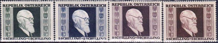Austria - President Karl Renner on postage stamps, 1946.
