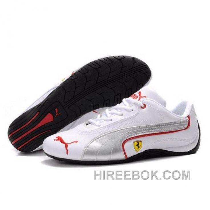 Mens Puma Ferrari Brazil In White Silvery 01 Discount