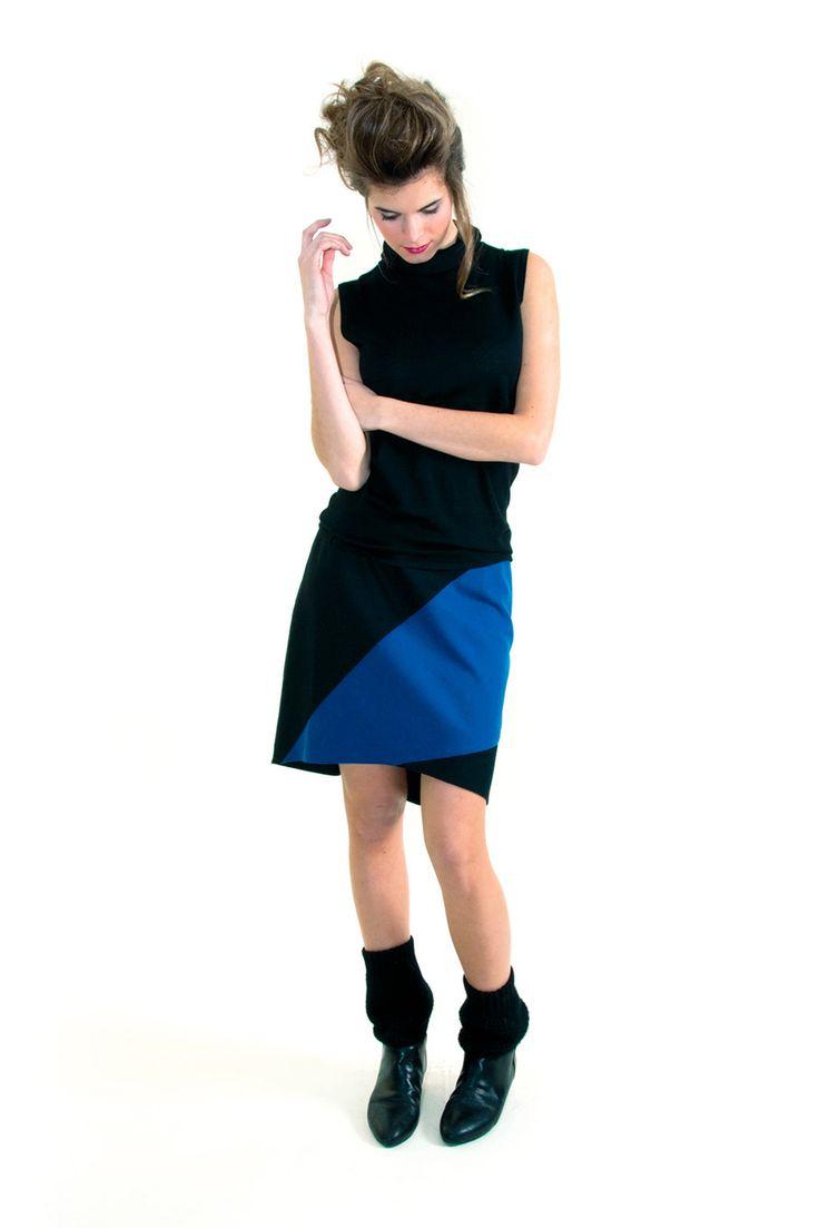 Skunkfunk USA: OKANA-11 Fall Winter 13 Women's SKIRT, Fabric Content: 50% wool + 50% others, Sustainable Fashion, Eco-Friendly Clothing, Fai...