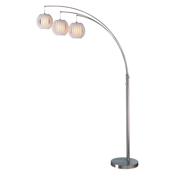 Lite Source LS-8871PS/WHT Deion 3-Lite Arch Floor Lamp - LS-8871PS/WHT