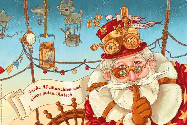 Illustrations for greeting cards by Natalie Ratkovski, via Behance