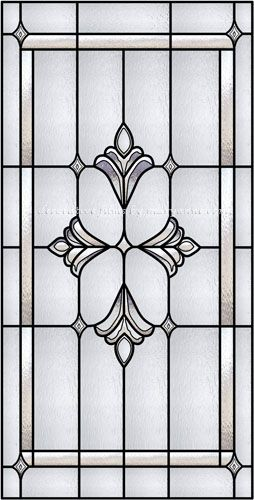 Noe-C Faux Privacy Stained Glass Clings and Window Films