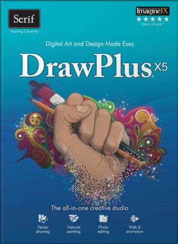Serif DrawPlus X5 [Download] -   Perfect for vector illustration, artistic drawing, realistic painting, and converting photos to vector images Create Flash animation for web banners, videos, and fun puzzles Versatile document types for art, marketing materials, web graphics and print projects Automatic connectors and... - http://softwaredownloaddeals.com/serif-drawplus-x5-download/ - http://softwaredownloaddeals.com/wp-content/uploads/2013/03/52a85_pdf_51rpN940vPL.jpg