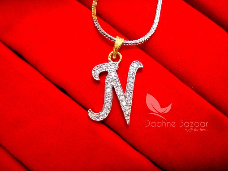 N - Alphabet, Daphne Zircon Pendant for Men or Women