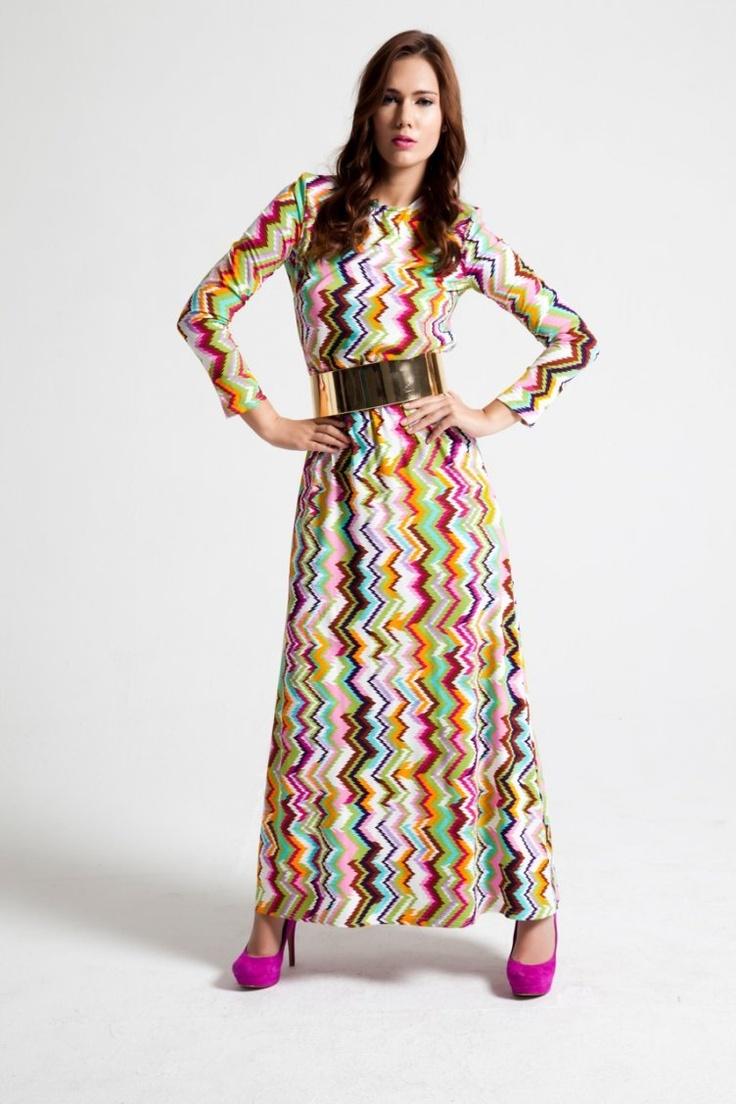 Kübra Tekin maksi elbise modeli
