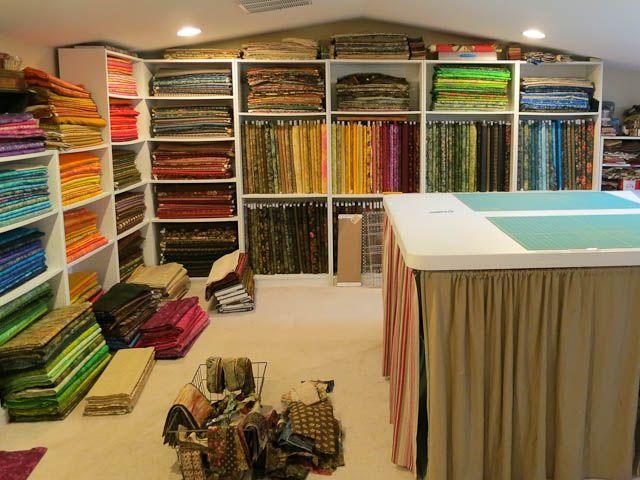 Laundry Basket Quilts Blog -Edyta's working studio
