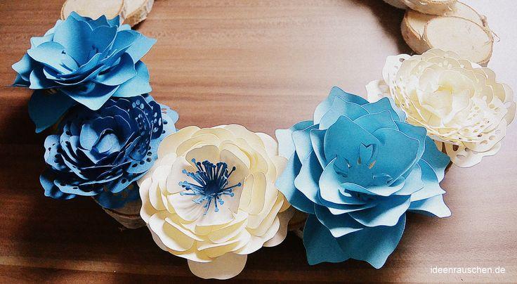Papierblumen basteln leicht gemacht -DIY Anleitung und Ideen zur Dekoration