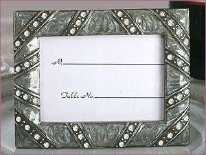 crystal embellished place card holder frames by weddingsbyedith 180