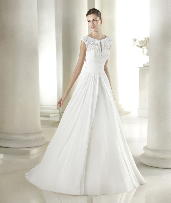 For the modest bride who wants a dramatic silhouette. San Patrick 2015 Bridal Collection