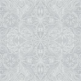 Grey Lace by Petroula Tsipitori Seamless Repeat Vector Royalty-Free Stock Pattern