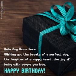 Write name on Wish Birthday Card for Lover. This is the best idea to wish anyone online. Make everyone's birthday special with name birthday wishes.