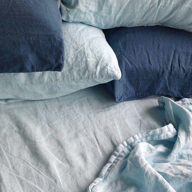blue linens