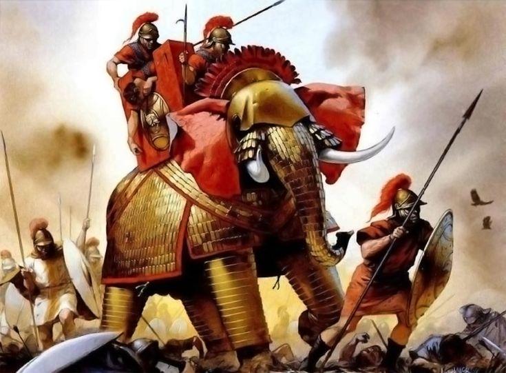 - 0312 -63 Imperio seleúcida. Seleucid Elephant by Angus McBride