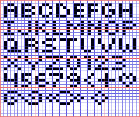 free loom bead patterns mini alphabet for square stitch