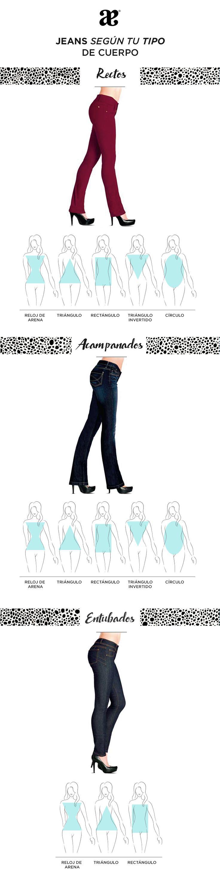 Jeans ideales para tu cuerpo, identifica los tuyos y después lee nuestro artículo.