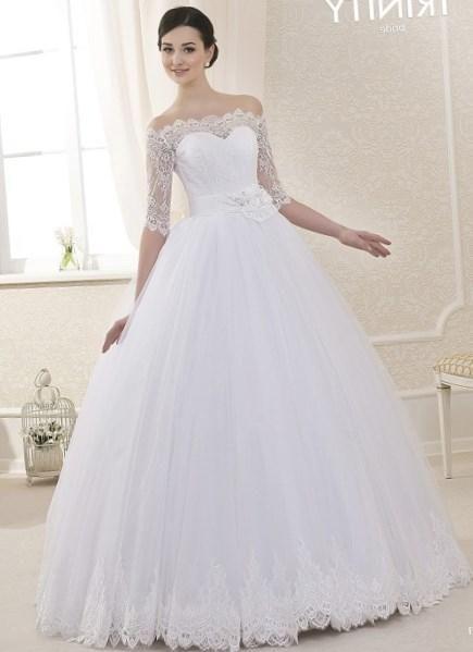 Свадебные платья фатин кружева