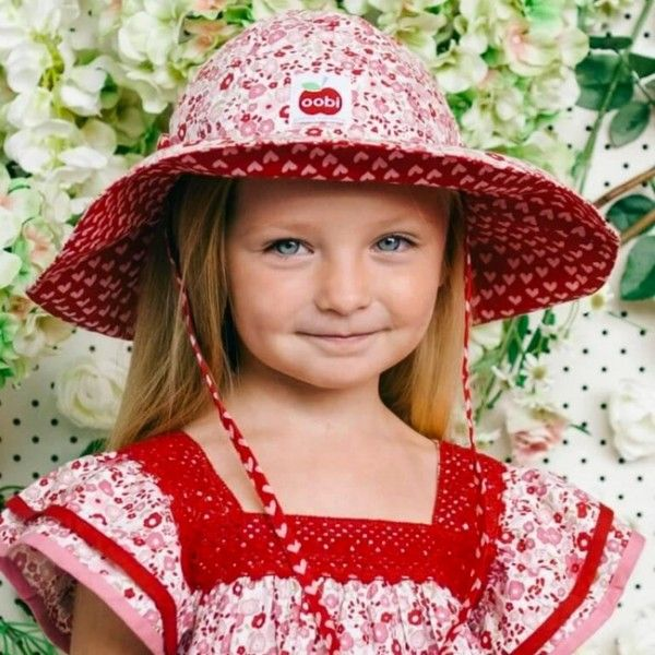 Our Primrose Liberty Style #FloralBridgetteHat is the best #sunhat around! For more detail visit @ https://goo.gl/Nz1ZFp  #TheWorldBoutique #OnlineBabyProducts #SunHat