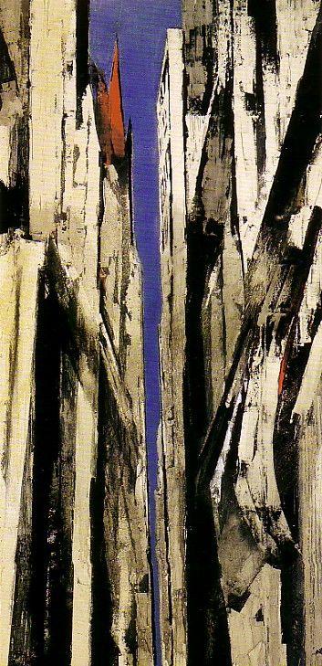 横山操 『ウォール街』 東京国立近代美術館所蔵 1962年(昭和37)