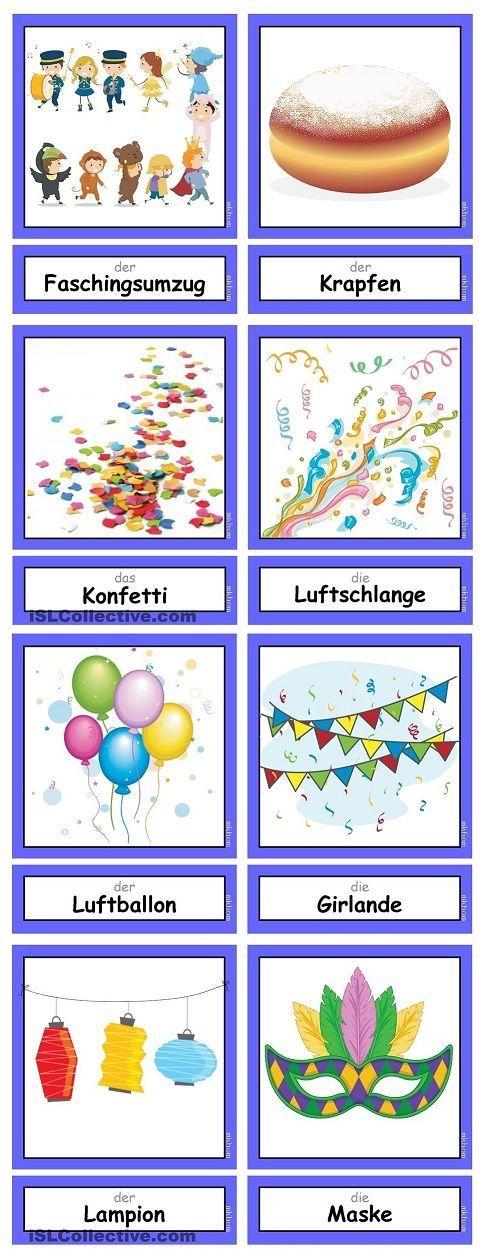 Wortschatz : Fasching / Karneval (1)