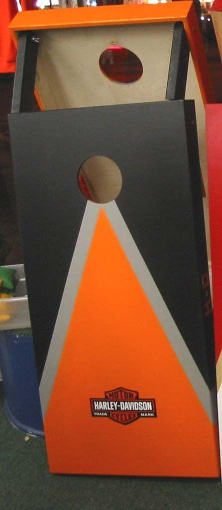 harley davidson cornhole boards flickr photo sharing cornhole designsentrepreneur ideasbackyard gamescornhole - Cornhole Design Ideas