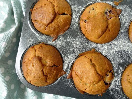 Glutenvrije muffins met bramen