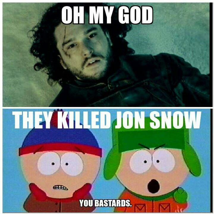 39f658c45ddb09b9b0fd00082edefa30 south park jon snow 213 best game of throne 2 funny images on pinterest fire, game