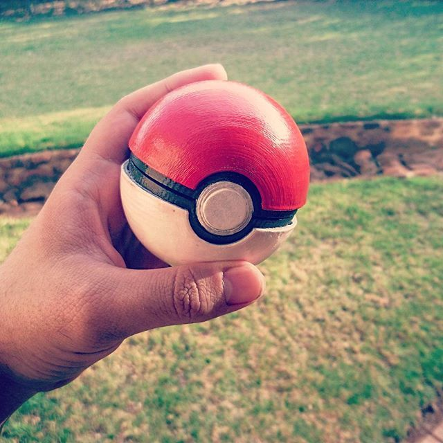 3d printed pokeball. Hand painted. facebook.com/letme3dprintthat
