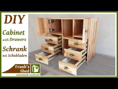 Superb DIY M bel selber bauen Schrank mit Schubladen aus Holz Anleitung Franks Shed