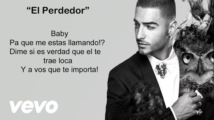 Maluma - El Perdedor (Video con letra/lyrics-Activar Subtítulos ) Offici...