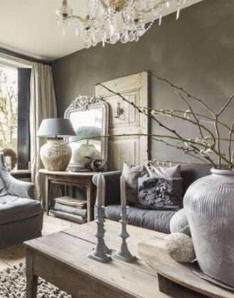 ♅ Dove Gray Home Decor ♅ living room in grey