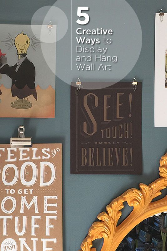 5 Creative And Cheap Ways To Hang Wall Art Family Photos